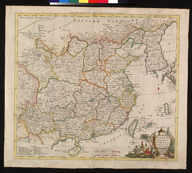 A new map of China drawn from surveys made by order of the Emperor