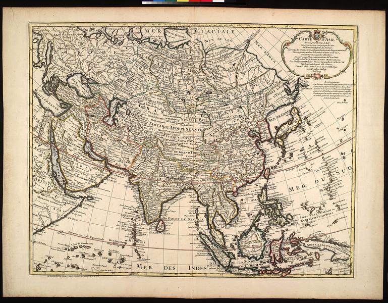 Carte d'Asie : dressée pour l'usage du Roy sur les mémoires envoyez par le Czar à l'Academie Royale des Sciences