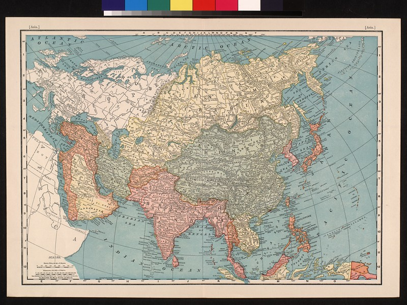 Rand, McNally & Co.'s New 14 x 21 map of Asia.