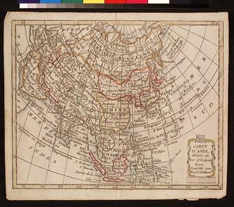 Carte d'Asie, divisée in ses principaux etats : assujettie aux observ's. astronom's.