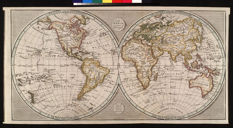 The World, with the latest discoveries : engraved for Anderson's history of commerce.
