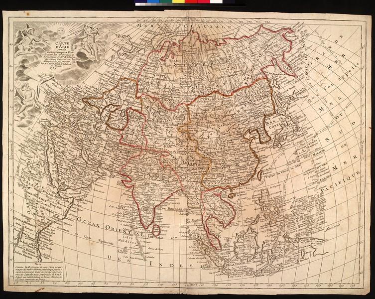 Carte d'Asie divisée en ses principaux etats : assujettie aux observations astronomiques de Mrs de l'Academ. des Sciences et dressée sur les Mémoires les plus recents