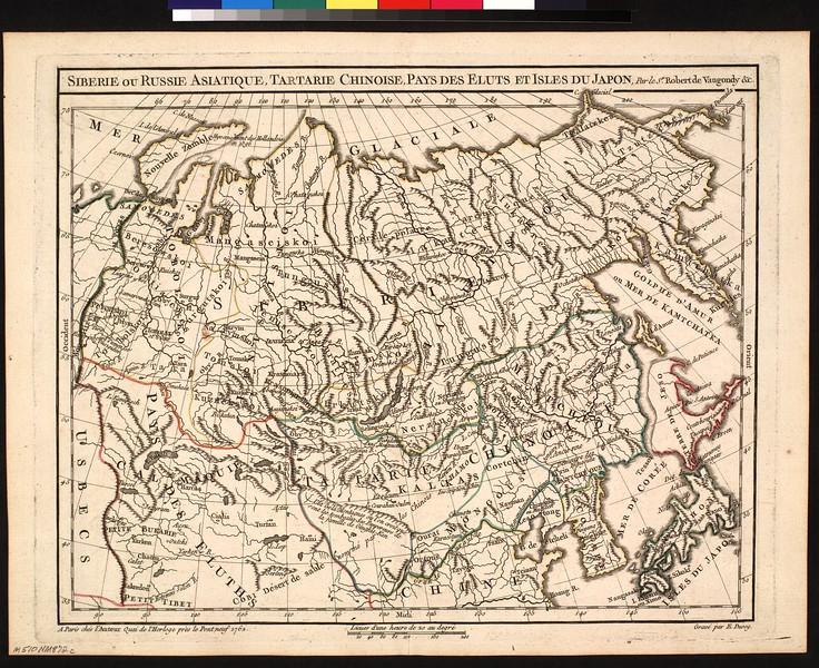 Siberie ou Russie asiatique, Tartarie chinoise, Pays des Eluts et les Isles du Japon
