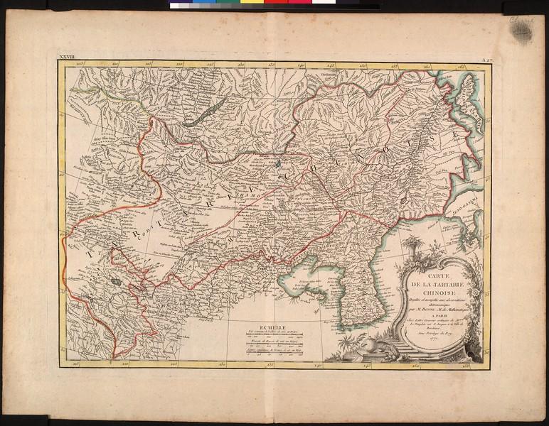 Carte de la Tartarie Chinoise : projettée et assujettie aux observations astronomique
