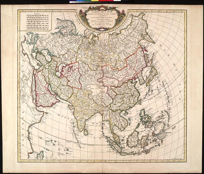 Carte de l'Asie : dressée sur les relations les plus nouvelles, principalement sur les cartes de Russie, de la Chine, et de la Tartarie Chinoise
