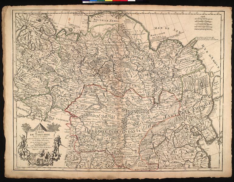 Carte de Tartarie : dressée sur les relations de plusieurs voyageurs de differentes nations et sur quelques observations qui ont été faites dans ce pa ïs la