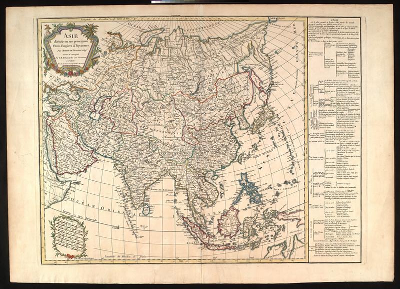 Asie, divisée en ses principaux etats, empires & royaumes
