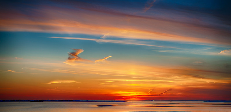 Colorful sky, sunset, Captree inlet, love, Asia Lee, clouds,