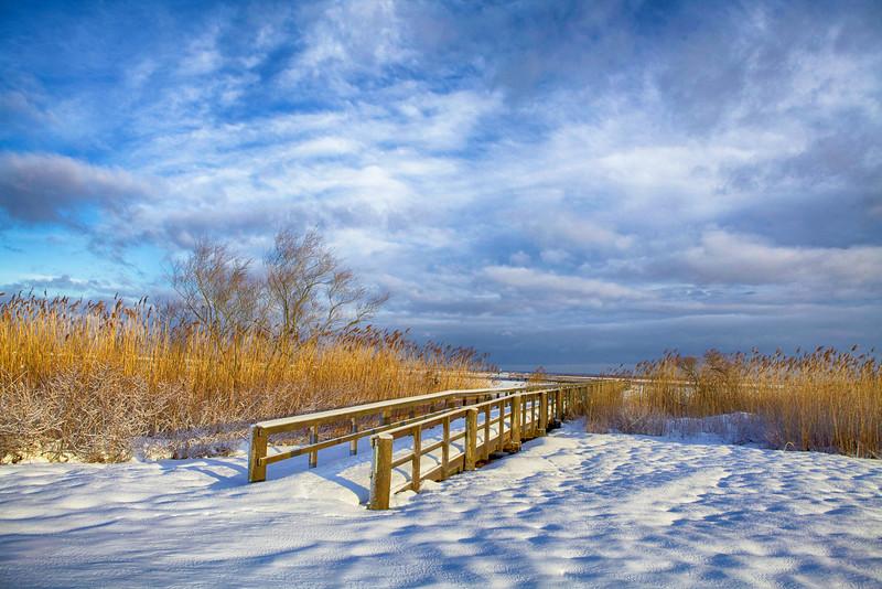 February at Cedar Beach Marina. <br /> I find the beach beautiful even during the winter.