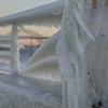 January 7, 2014 Robert Moses State Parkway<br /> Looking at the Causeway from the Coast Guard Dock. <br /> It was one of the coldest winters I can remember