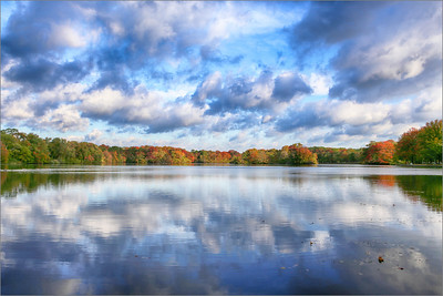 October 21, 2014 Belmont Lake, Babylon The sky was too beautiful not to stop here on my way home. I find cloudy days so beautiful for photos and the reflections are just so beautiful.