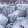 Niagara Falls Frozen - to feel the scale of the ice, on the bottom right corner is the observation deck.