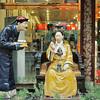 Beijing - Un peu de l'ambiance Qing du 19e siècle dans la rue Dazhalan Xi - 北京。大栅栏西街