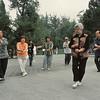 Beijing - Tai chi quan matinal dans le parc du temple du Ciel - 北京。天坛园