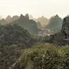 Guilin - Vue depuis la colline des Couleurs accumulées - 桂林