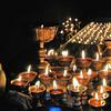 Litang - Maison du septième Dalai Lama - Lampes à beurre - 理塘