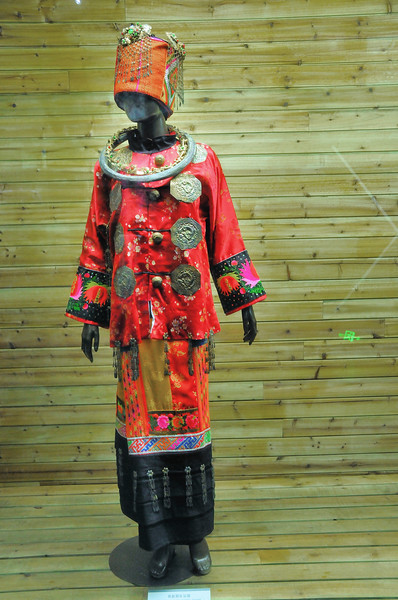 Kunming - Musée des Minorités Ethniques du Yunnan - Costume Dai - 昆明。云南民族博物馆。傣族