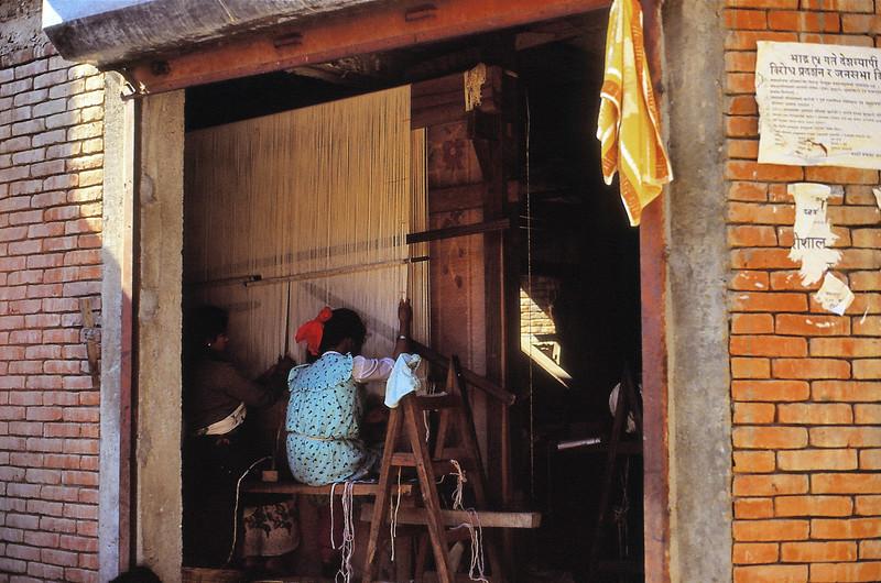 Kirtipur - Métier à tisser traditionnel - कीर्तिपुर