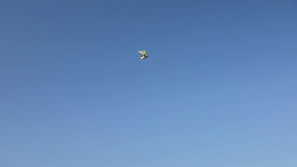 Leichtflugzeug über dem Schwarzen Meer