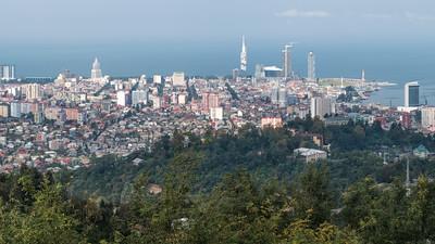 Blick auf Batumi vom Berg Argo
