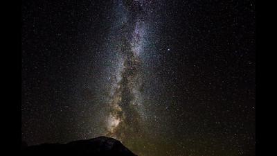Milkyway over Mt. Ts'ivi - Tusheti - 2.10.2016