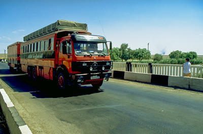 Rotel-Bus in Usbekistan