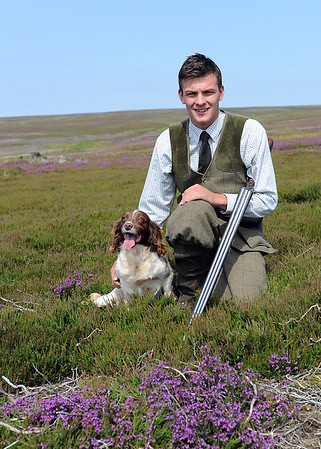 Askham Bryan College student  and Gamekeeping Student of the Year Anthony Orr and his dog Winnie.