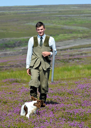 Gamekeeping Student of the Year Anthony Orr and his dog Winnie, Askham Bryan College, York