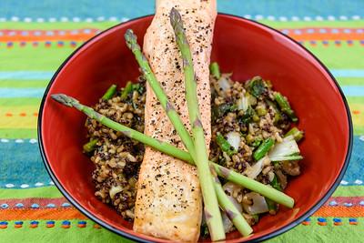 Salmon and quinoa rice