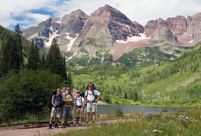 The crew as we're about to head off on a 4 day trek through the Maroon Bells/Snowmass Wilderness