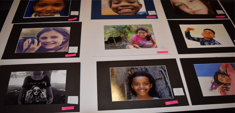 A photograph of photographs; one of 450 pieces of art on display at the Onyx Room Saturday night.