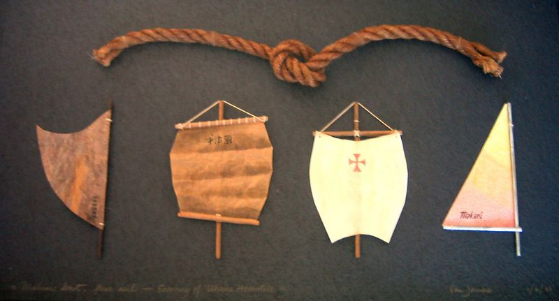NFS or Knot Four Sail: Economy of Pneuma (rope, wood and paper)