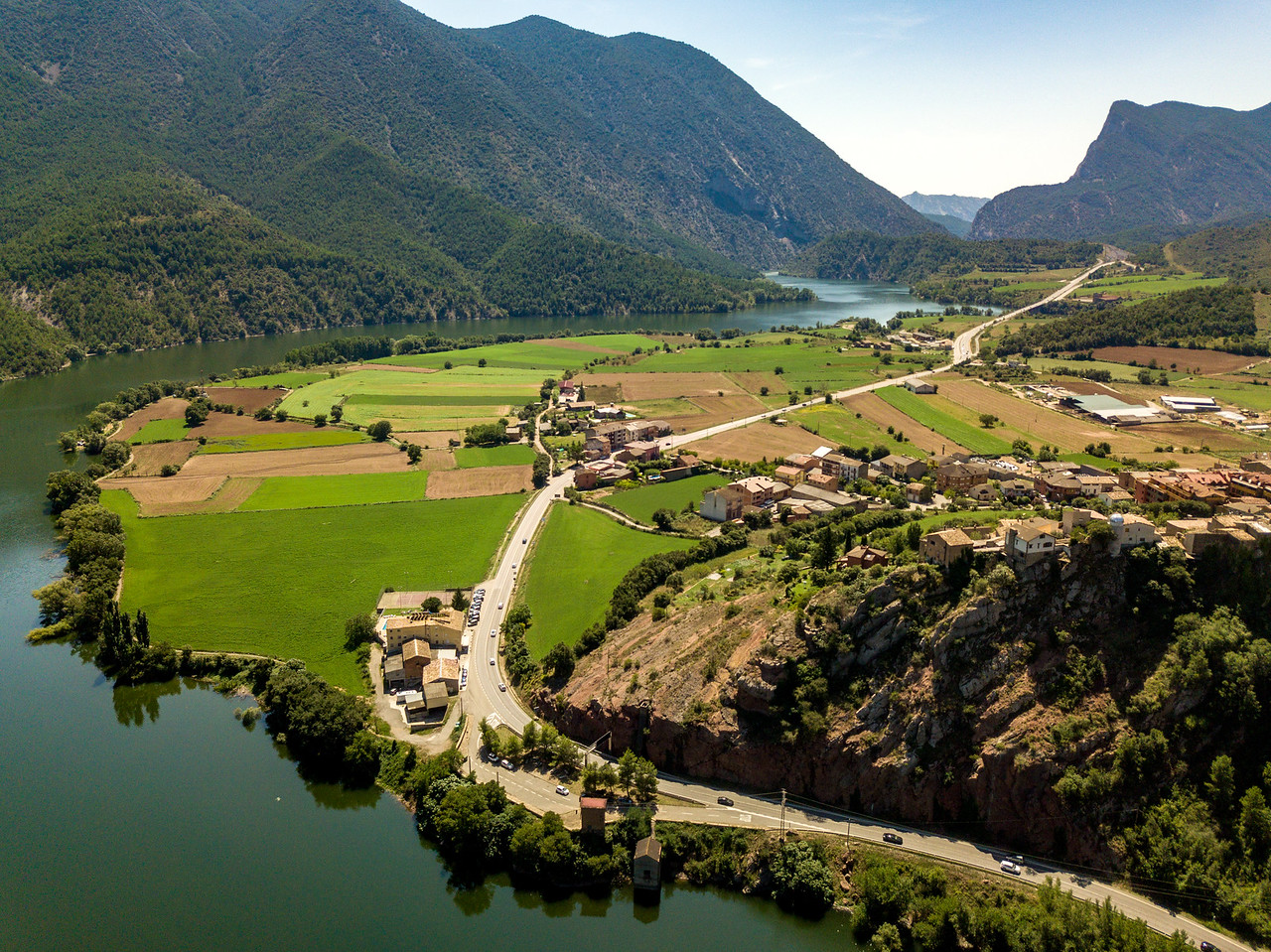 Image of Drone Shot of the Landscape Around Andorra