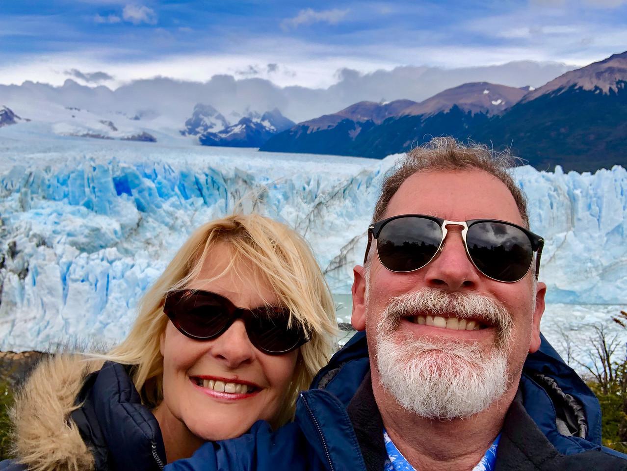 Jonathan Look and Sarah Wilson at Perito Moreno Glacier in Argentina
