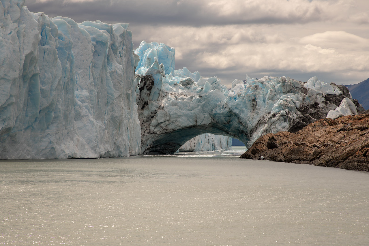 Ice Arch at Los Glaciares National Park in Argentina