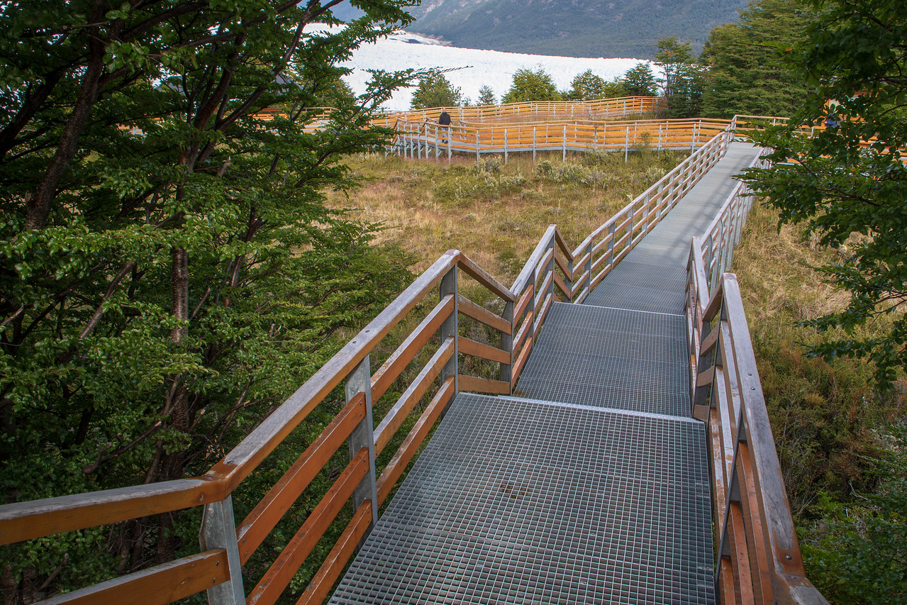 Walkway Near the Perito Moreno Glacier in Los Glaciares National Park Argentina