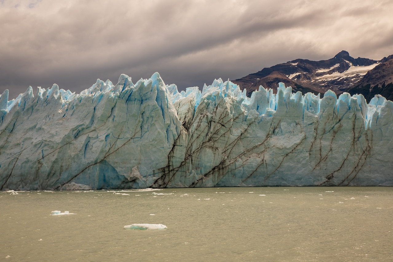 Blue Color of Perito Moreno Glacier