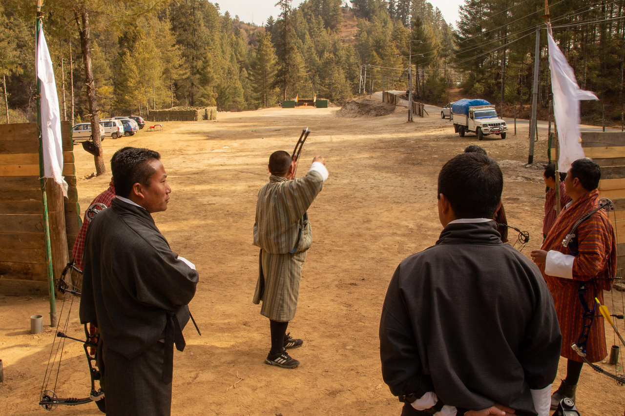 In Bhutan the Archery Targets are an incredible 145 Meters Away