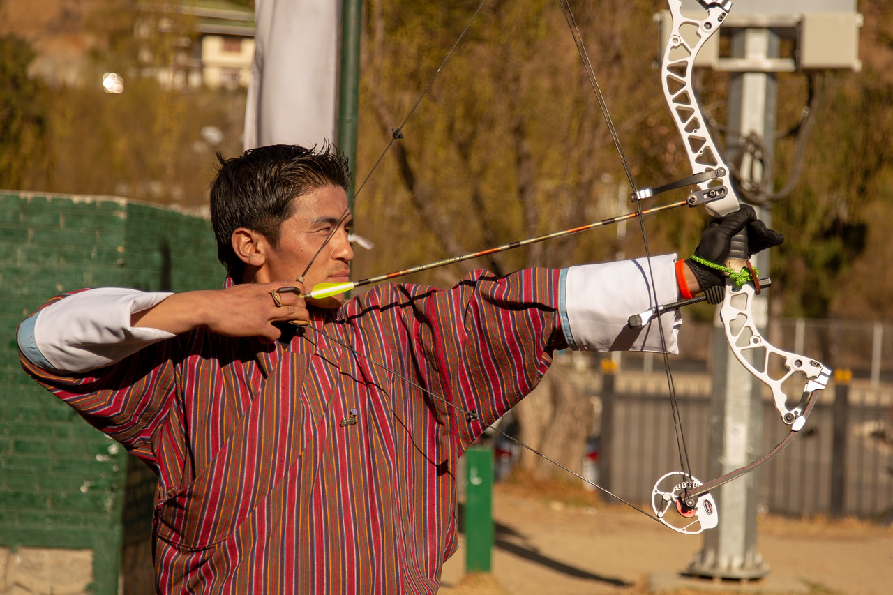 Bhutanese Archer Archery in Bhutan