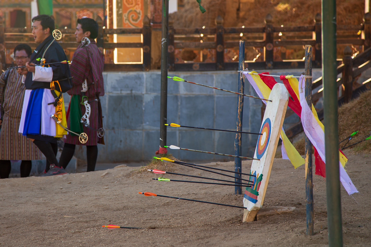 The Target in Bhutan Archery