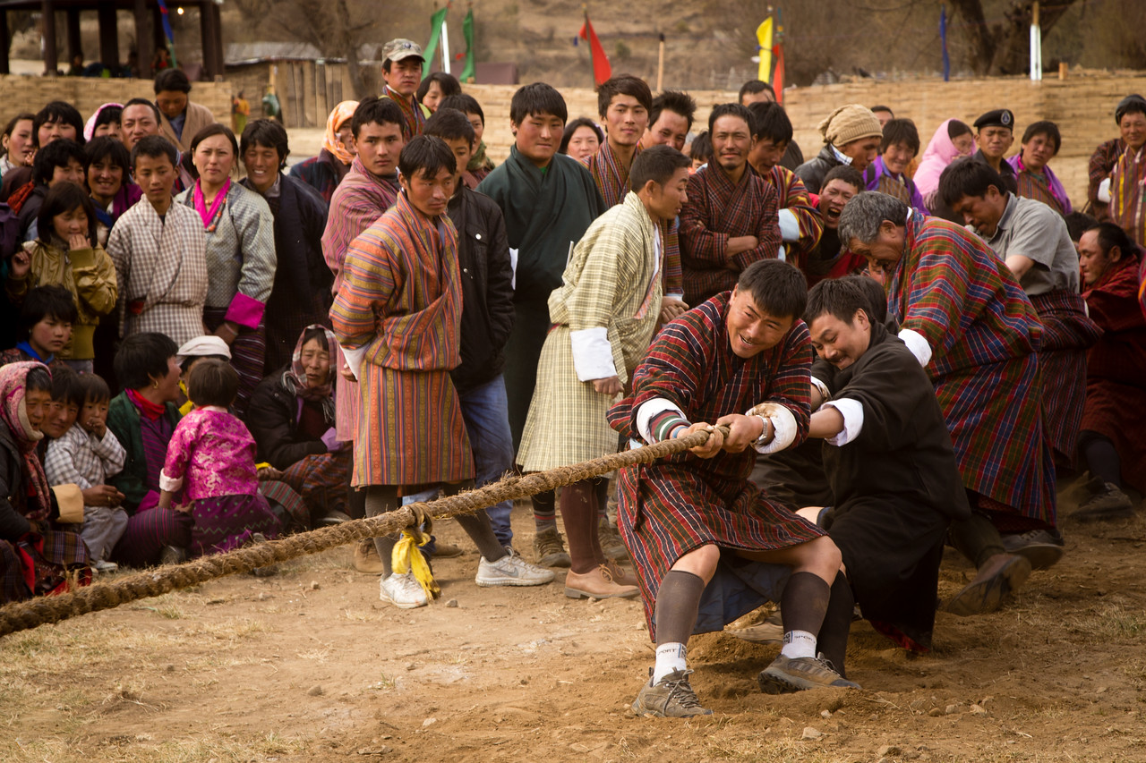 Tug of War at Bhutan Nomad Festival