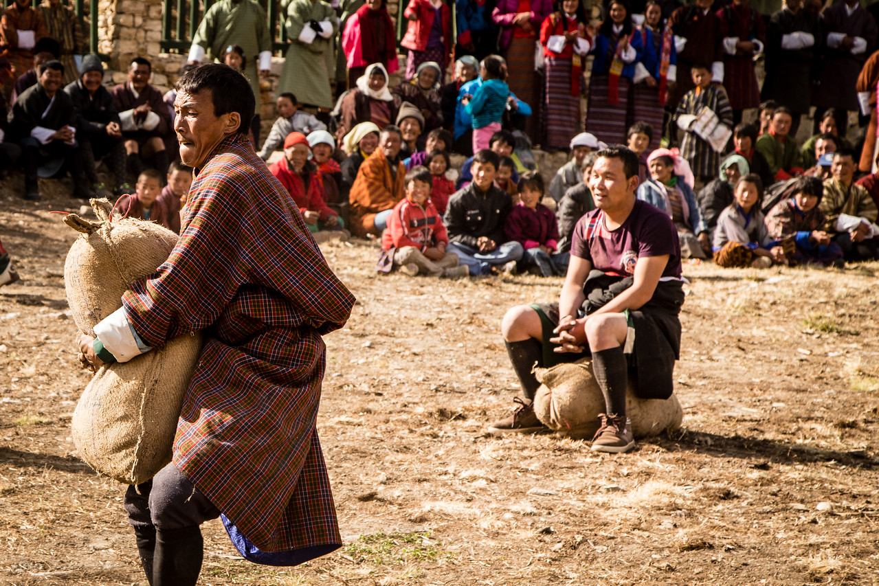 Carrying a 100 kilogram Bag of Sand at Bhutan's Nomad Festival