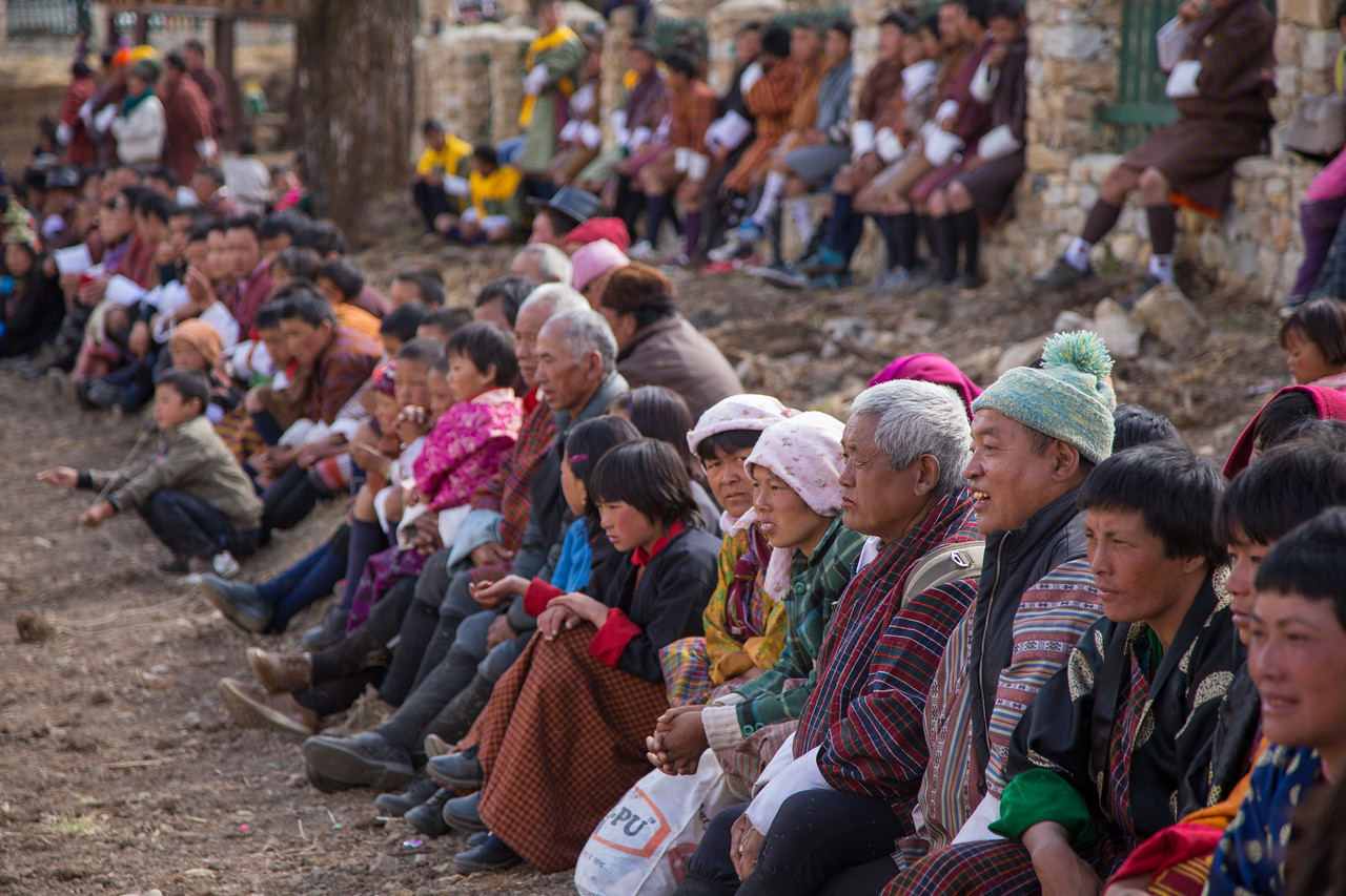 Crowds at Bhutan's Strongman Competition