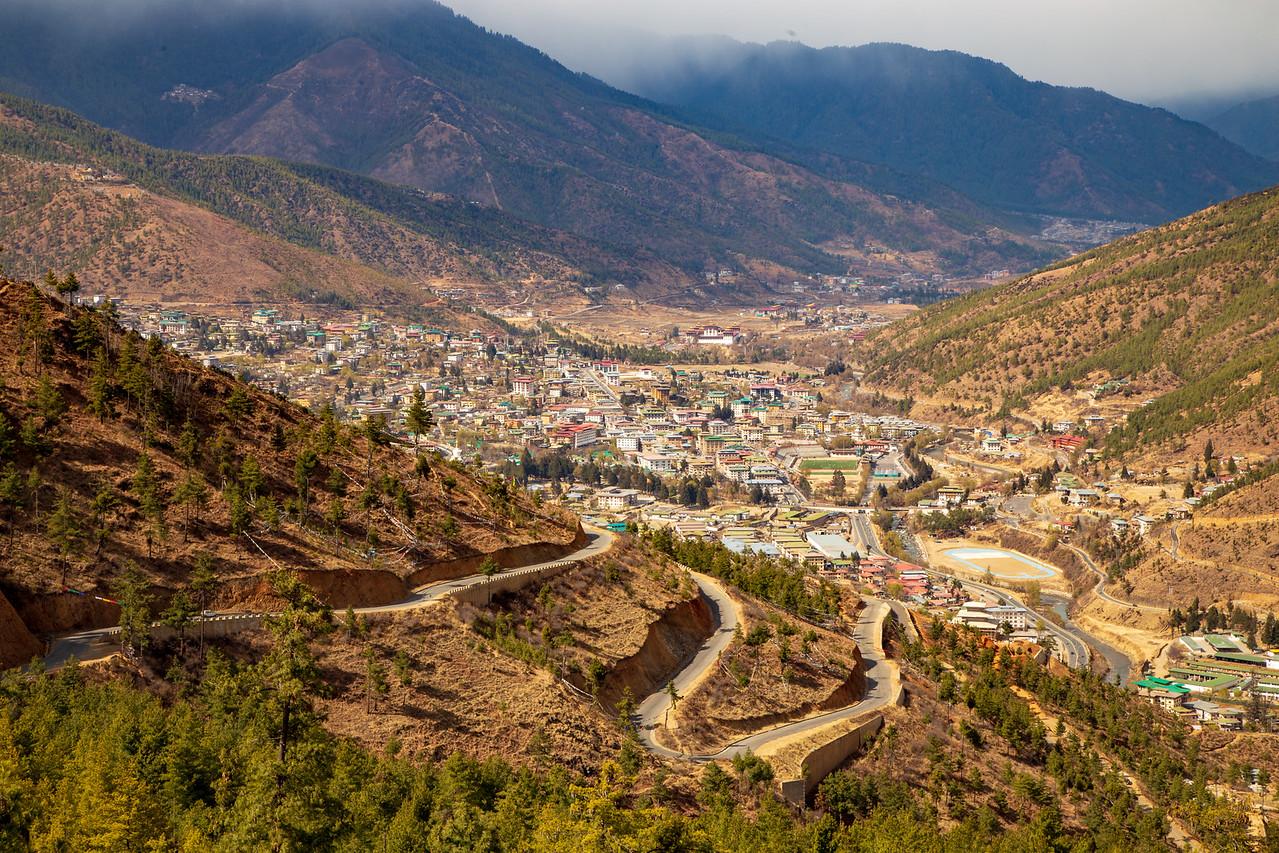 Thimpu the Capital of Bhutan