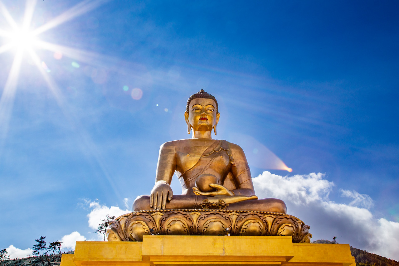 Photos of the Massive Buddha Dordenma Statue in Bhutan