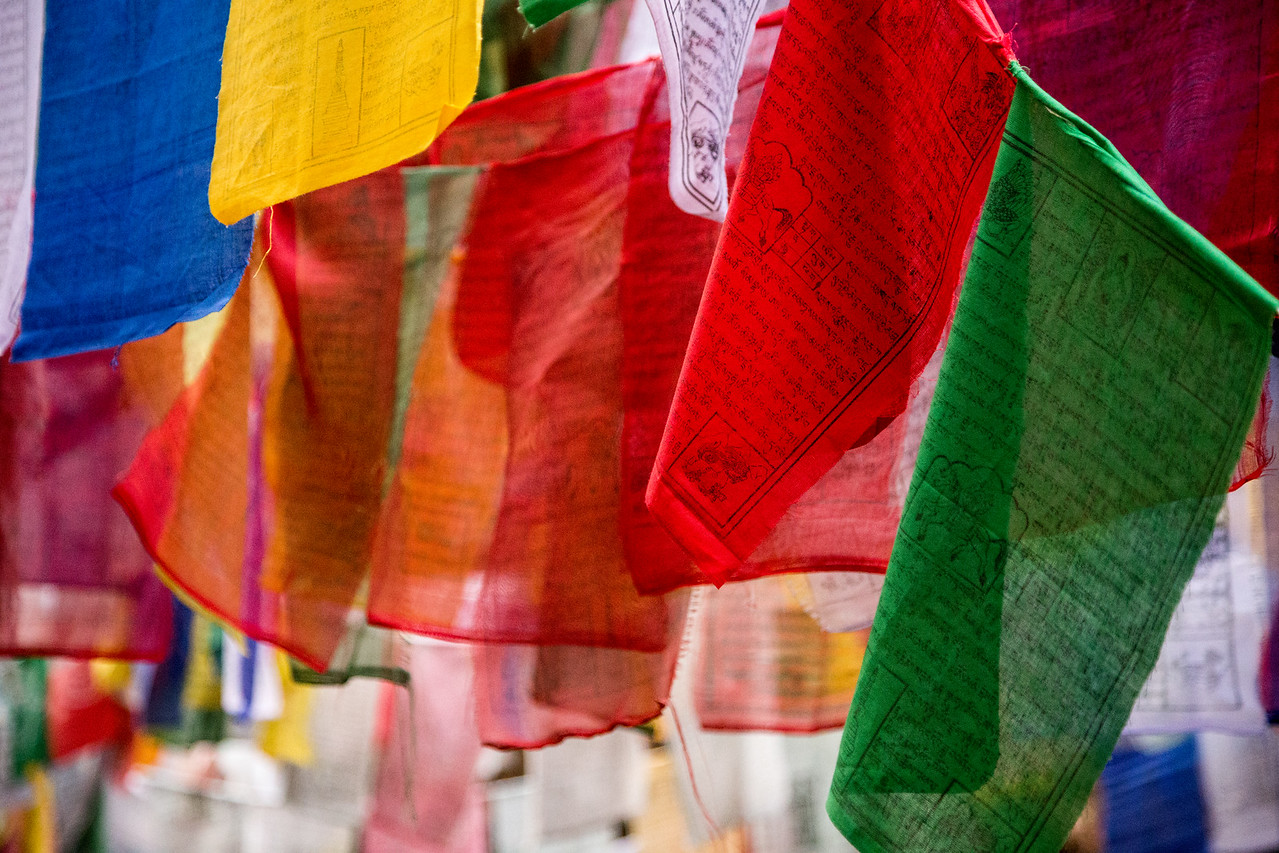 Colorful Bhutan Prayer Flags