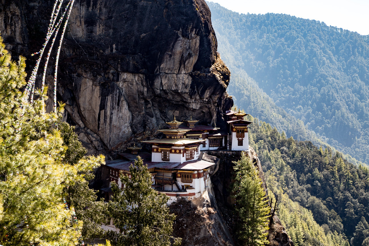 To Get To Tiger's Nest Monastery You Climb A Little Above And Hike Down