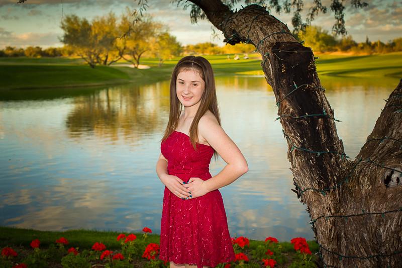 Ashley fill in flash portrait sample