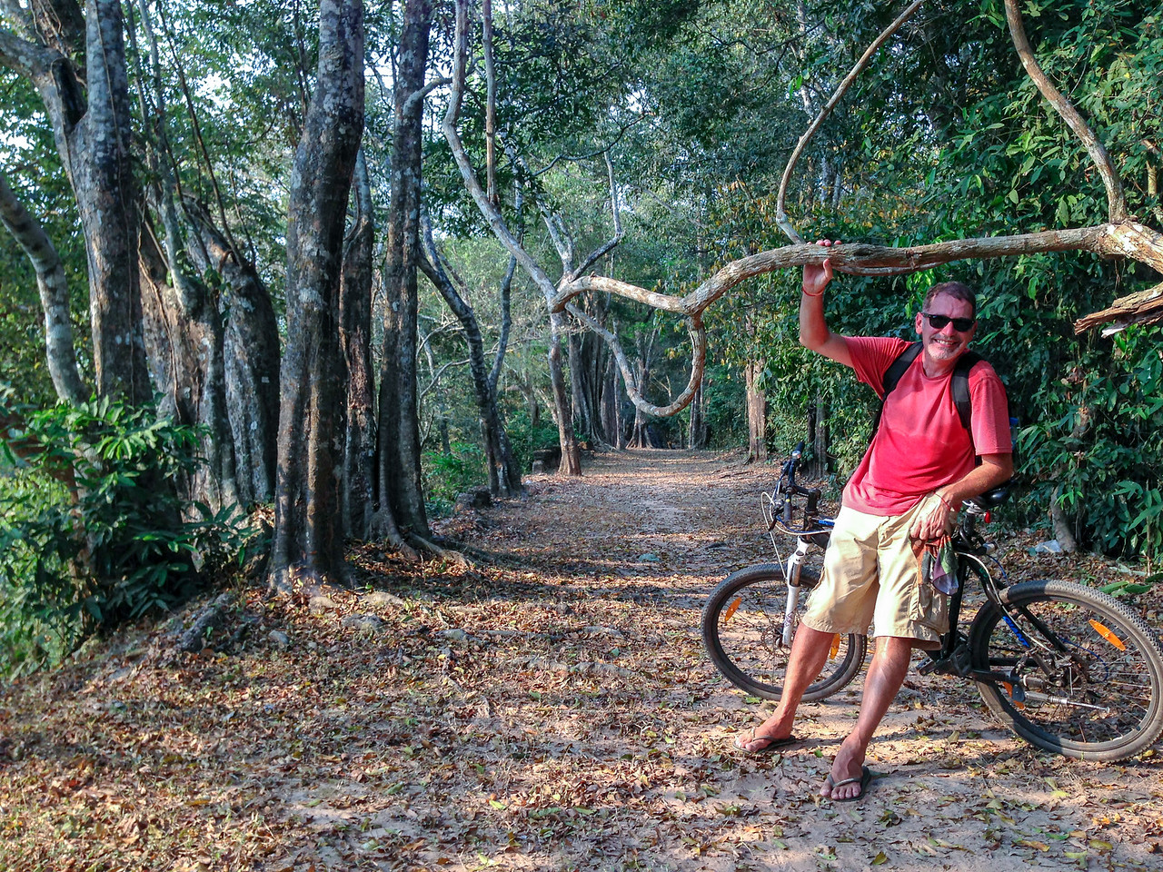 Cycling the Walls of Angkor Thom