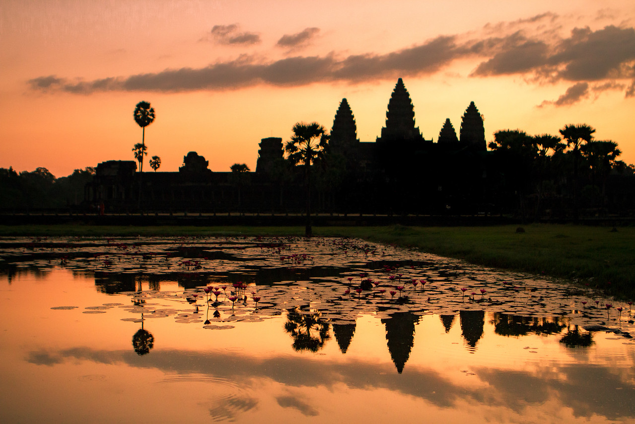 Siem Reap, Cambodia and the nearby Angkor Wat